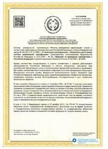 Приложение к сертификату соответствия Level Eleven