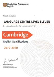 Сертификат Cambridge Assessment English